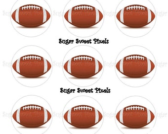 INSTANT DOWNLOAD Football blank 1 inch Circle Bottlecap Images 4x6 sheet