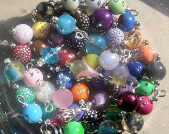Pre- made Bead Dangles for Bottlecap Necklaces Jewelry 40 dangles customized for you