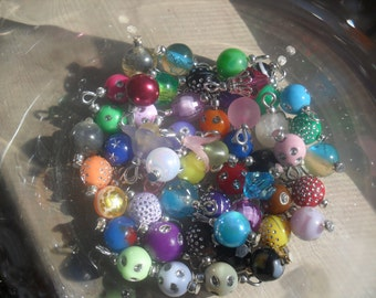 Pre- made Bead Dangles for Bottlecap Necklaces Jewelry 20 dangles customized for you