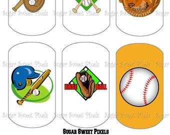 INSTANT DOWNLOAD Baseball Themed  Digital Dog Tag Images 4x6 sheet