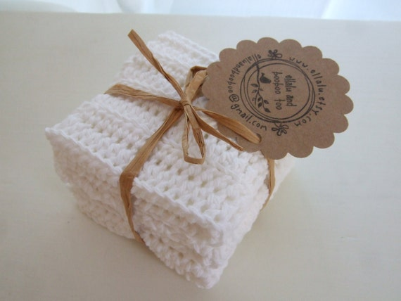 Crocheted Cotton Dishcloths / Washcloths