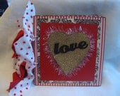 Love mini scrapbook album