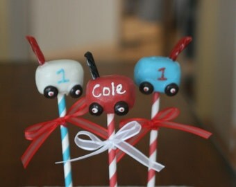 Red Wagon themed Cake Pops