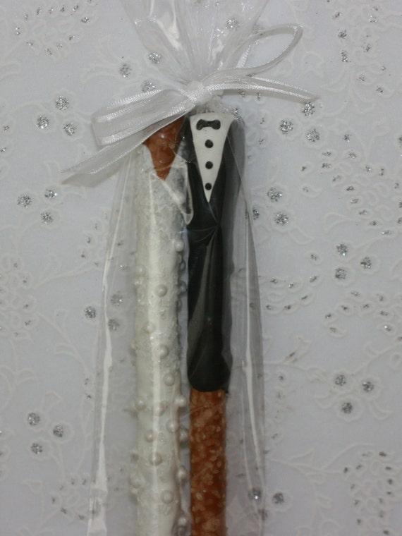 Bride Amp Groom Chocolate Pretzel Wedding Favors By