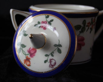 vintage covered sugar bowl made in england
