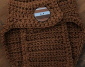 3 to 6 Month Diaper Cover - chocolate brown