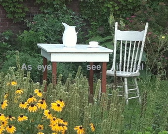 SALE Antique Table in the Garden POST CARDS set of 5 from my photos