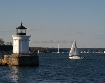 Portland Bug Light Portland Me 5x7 photo greeting card