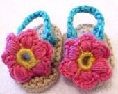 Flower Baby Flip Flop Shoes