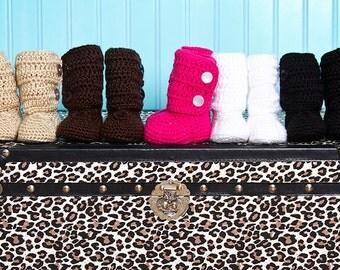 Crochet Baby hUGG Boots