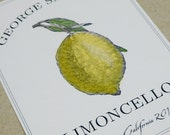 Personalized Limoncello or Lemon Canning Labels or Tags, set of 18