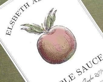 Custom Apple Canning Labels or personalized Kitchen Labels