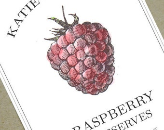 Raspberry Jam Labels, canning labels customized