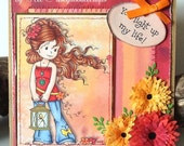 Handmade Card - You light up my life Square Greeting Card - any occasion