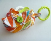 Pacifier Pouch or Walk the Dog Bag-Colorful Pea Pods keychain clutch