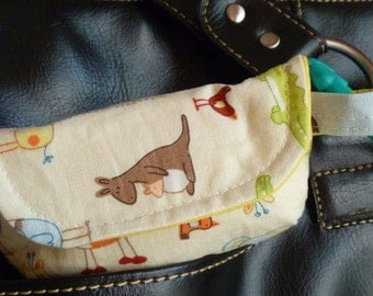 Baby animals pacifier pouch