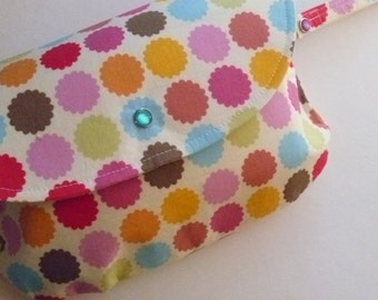 Colorful Flowers Diaper Clutch