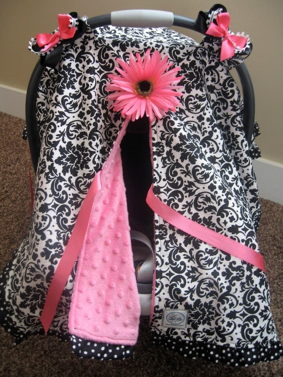 Infant Car Seat Canopy Cover Cuddler Black By