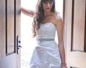 SALE - Ready to Ship - Short Wedding Dress- Simply Perfect - Tea Length Wedding Dress