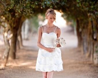 Tiana- Knee Length Wedding Dress, Repception Dress, Garden Wedding