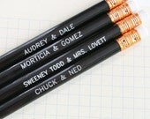 dynamic duo custom pencil set. for all perfect pairings everywhere. custom engraving words of your choice. perfect personalized present.