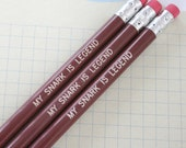 my snark is legend chocolate brown pencils. Make test taking and gibe writing fun again.