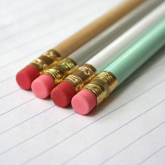 pencil 6 pack custom engraved personalized pencils. One quote. Please read listing for colors.