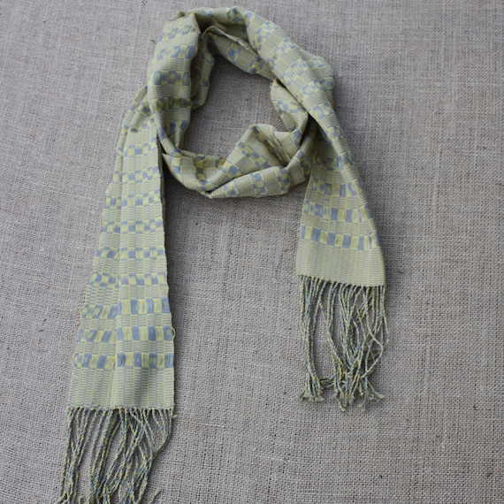Woven Scarf (Yellow and Grey, by Saw)