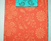 orange and turquoise kindle/nook cover