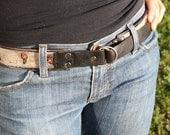 custom antiqued leather belts