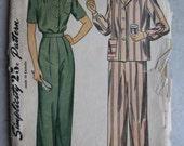 Vintage Simplicity Pajama Pattern 1999