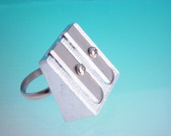 Quirky Pencil Sharpener ring