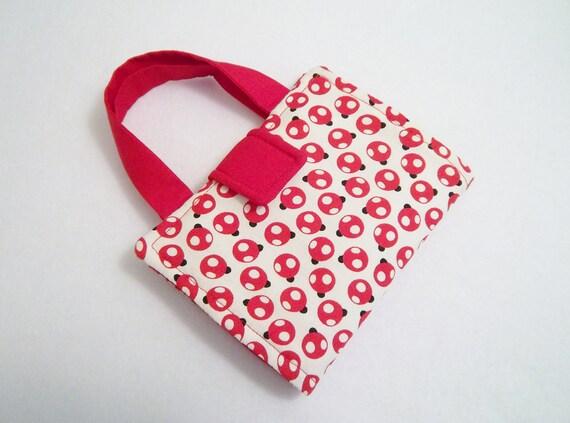Ladybug print Crayon Take Along Wallet. Ready to Ship