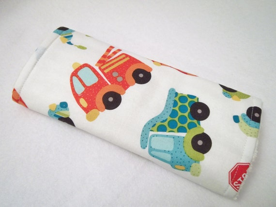 Peak Hour print by Riley Blake Print Burp Cloth. Ready to Ship