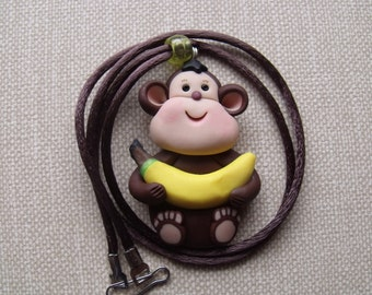 Monkey with a banana necklace