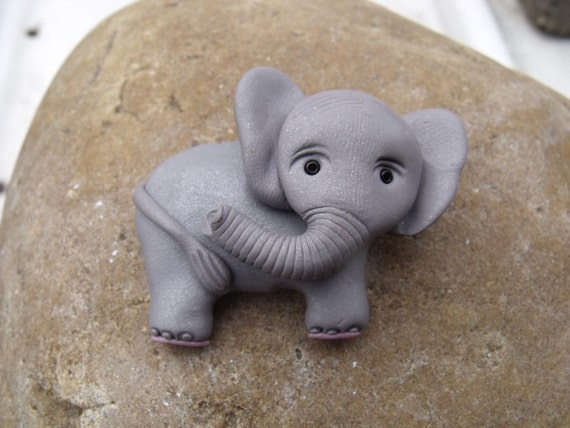 Grey Elephant  Pin