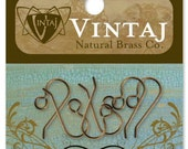 Vintaj Brass French Earwires, 3pairs, Real Brass Earwires