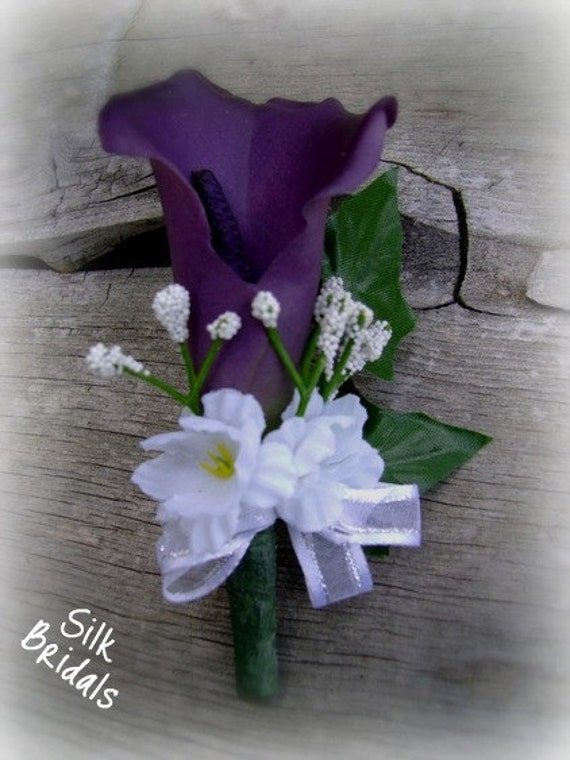 ... Calla Lily Boutonniere groom groomsmen father bridal wedding flowers
