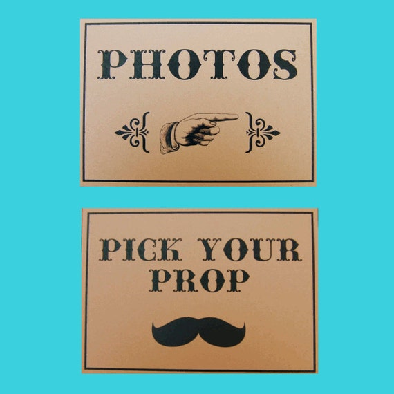 Kraft Photo Booth Signs - Set of 3 - Photo Booth Props