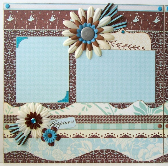 Happiness Premade 2 Page 12x12 Scrapbook Layout