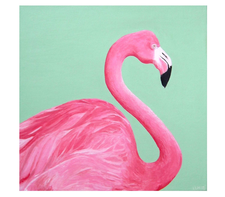 Acrylic Paintings Of Flamingos