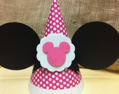 Reserved for Robin Minnie  Mouse birthday Hat