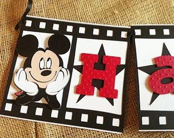 Mickey Mouse  Film Strip Happy Birthday Banner