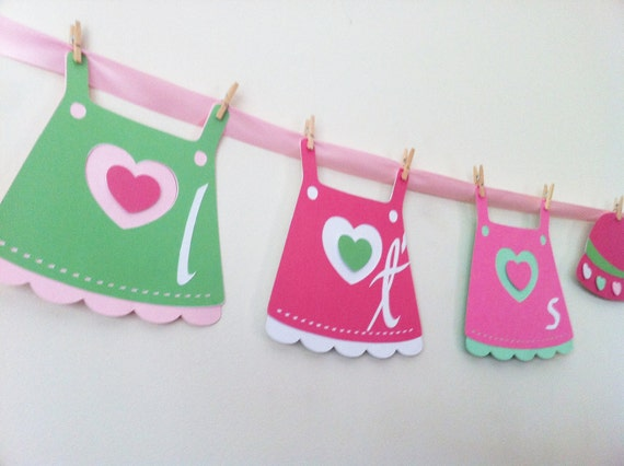 Reserve for Stacie Baby Girl Shower Banner includes 6 FREE  toppers.