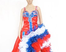 Moulin Vegas Authentic Can Can Dress Costume