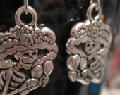 Darling Catrina Day of the Dead earrings with free silk bag