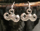 Moustache earrings with free silk gift bag Getting to know you sale