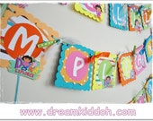 HAPPY BIRTHDAY Banner DORA The Explorer theme- can be personalized/ customized