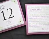 Wedding Table Numbers - Custom Wedding Table Numbers - Personalized Table Numbers - Purple Weddings