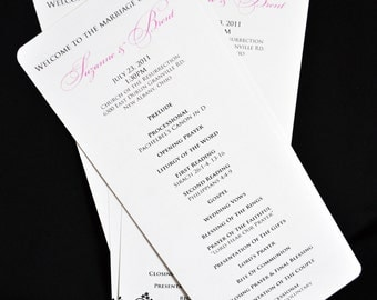 DIY Template Simple Wedding Program - Customizable - Elegant Design - Simple Classic Wedding - Printable Digital Program